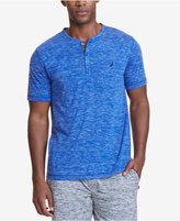 Nautica Men's Space-Dyed Henley Pajama Shirt