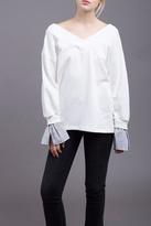 J.o.a. Contrast Sleeve Sweatshirt
