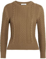 Frame Cable-knit Pima Cotton Sweater - Army green