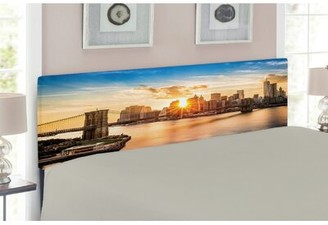 East Urban Home New York Upholstered Panel Headboard Size: Twin