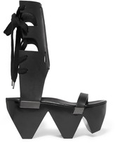 Rick Owens Leather platform sandals