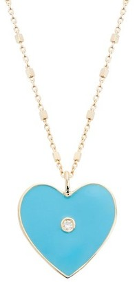 Jennifer Zeuner Jewelry Fifi 18K Rose Goldplated, Enamel & Diamond Pendant Necklace
