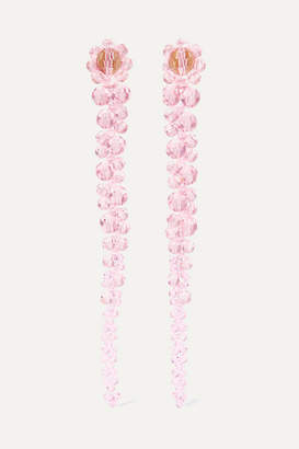 Simone Rocha Drip Bead Earrings - Pink