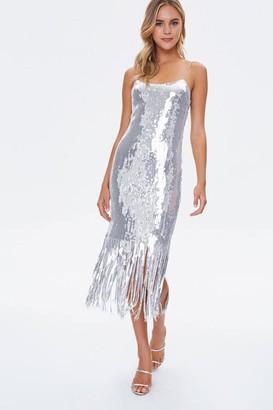 Forever 21 Sequin Fringe Cami Dress