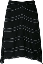Proenza Schouler striped skirt - women - Silk/Acetate/Viscose - 2