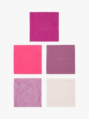 Habico Felt Fabric Square, Pack of 5, Pink