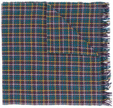 Paul Smith checked pattern scarf