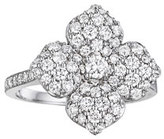 Penny Preville 18k White Gold Pavé Diamond Flower Ring, Size 6