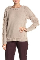 The Cashmere Project Fringe High/Low Cashmere Sweater