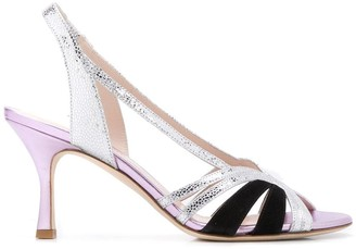 Gia Couture Metallic Strappy Sandals