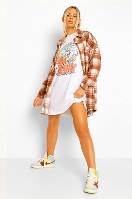 boohoo Tom And Jerry Licence Short Sleeve T Shirt Dress