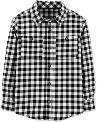 Carter's Carter Big & Little Boys Cotton Gingham Check Button-Down Shirt