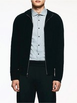 Calvin Klein Platinum Cashmere Hooded Sweater