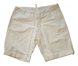 DSQUARED2 White Cotton Shorts