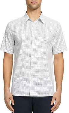 Theory Irving Witan Slim Fit Short Sleeve Button-Down Shirt