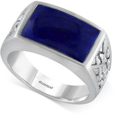 Effy Gento by Men's Lapis Lazuli Ring (3-9/10 ct. t.w.) in Sterling Silver