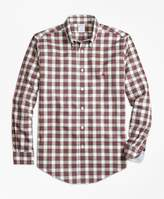 Brooks Brothers Non-Iron Regent Fit Dress Stewart Tartan Sport Shirt