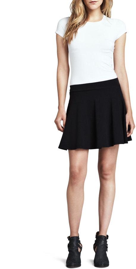 Splendid Stretch Knit Flare Skirt