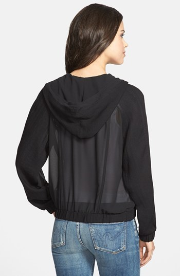 Olivia Moon Hooded Sheer Jacket
