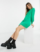 Thumbnail for your product : New Look sweat dress in bright green