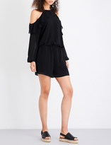 MICHAEL Michael Kors Ruffled chiffon playsuit