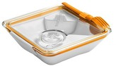"Black + Blum Box Appetit – Orange – 7.48""L x 7.48""W x 2.17""H"