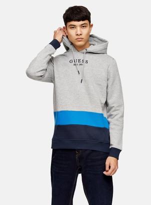 Topman GUESS Grey Pullover Fleece Hoodie