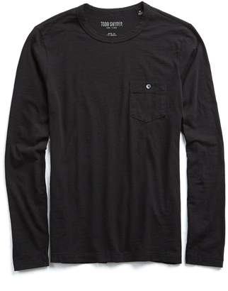 Todd Snyder Made in L.A. Slub Jersey Long Sleeve T-Shirt in Black