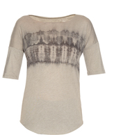 Raquel Allegra Dropped-shoulder tie-dye T-shirt