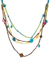 4-Row Beaded Multi Colored Necklace - 30