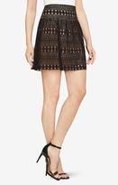 BCBGMAXAZRIA Mikaela Lace Miniskirt