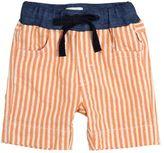 Il Gufo Striped Cotton Seersucker Shorts