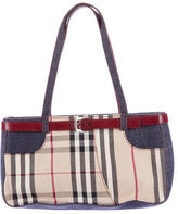 Burberry Nova Check Denim Tote