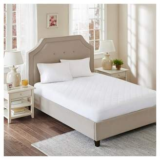 All Natural Cotton Percale Quilted Mattress Pad with Spandex Snug-on Slip Fit Skirt