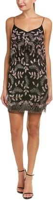 Aidan Mattox Aidan Women's Pop Over Floral Beaded Dress