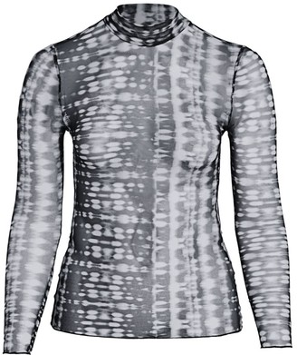 Baacal, Plus Size Tie Dye Mesh Crop Top