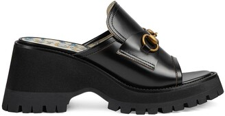 Gucci Horsebit mid-heel slide sandals