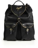 Giuseppe Zanotti Perforated Leather Backpack