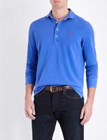 Polo Ralph Lauren Slim-fit notched hem cotton-piqué polo shirt
