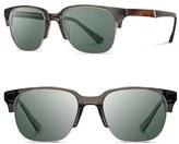Shwood Men's 'Newport' Sunglasses - Black/ Mahogany/ Grey