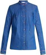 Thierry Colson Peggy leaf-embroidered cotton shirt