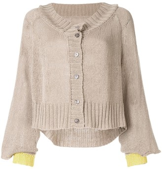 Taylor Situation two-tone cardigan