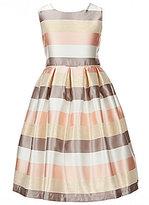 Jayne Copeland Little Girls 2T-6X Metallic Stripe Taffeta Dress