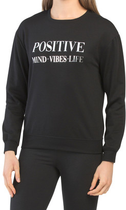 Positive Minds Vibes Life Fleece Top