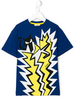 Fendi cat print T-shirt - kids - Cotton/Spandex/Elastane - 4 yrs
