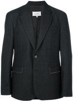Maison Margiela stitch detail blazer - men - Cotton/Viscose/Virgin Wool - 48