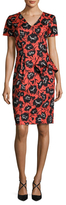 Carolina Herrera Cotton Printed Sheath Dress