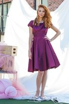 Shabby Apple Bleecker Dress Burgundy