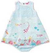 Joules Baby/Little Girls 12 Months-3T Bunty Striped-Bodice Mermaid Sea Swing Dress