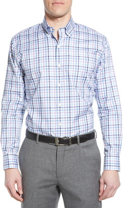 Peter Millar Casey Regular Fit Multicheck Button-Down Shirt